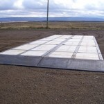 8' X 45' with ramps specific to customer requirment
