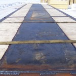 7' x 40' 4 rail, steel plated mat for Precision Drilling