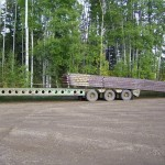 Winch tractor loading mats.